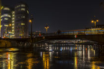 Night Bridge in Berlin by Patrick Ebert