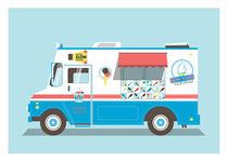 Icecream truck von Print Point