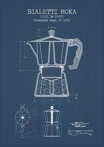 Bialetti moka blueprint by Print Point