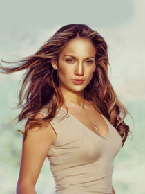 Jennifer Lopez oil paint by dcpicture