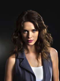 lyndsy fonseca oil paint von dcpicture