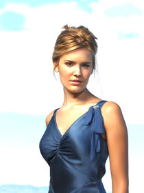 Maggie grace oil paint von dcpicture