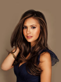 Nina Dobrev oil paint by dcpicture dhyana