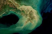Satellitenaufnahme des Mississippi-Deltas in Louisiana, USA by lavitsat