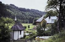 'Bauernhaus und Kapelle. Schwarzwald. Farmhouse and chapel. Black Forest. ' von fischbeck