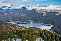 Bolboci Lake and Bucegi Mountains  by Enache Armand Iustinian