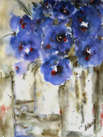 Blue flowers - Blaue Blüten by Chris Berger