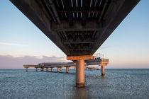 Seebrücke im Abendlicht von freedom-of-art