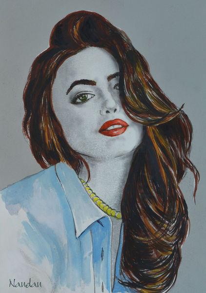 Portrait-model-watercolor