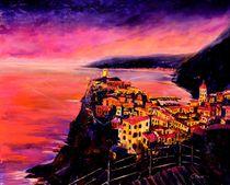 Tramonto a Vernazza/ Cinque Terre Ölgemälde  von Christian Seebauer