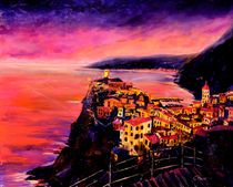 Tramonto a Vernazza/ Cinque Terre Ölgemälde  by Christian Seebauer