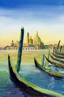 Venedig: Santa Maria della Salute, San Giorgio by Christian Seebauer