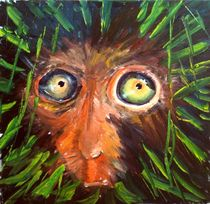 Bedrohter Lebensraum. Affe im Regenwald von Christian Seebauer