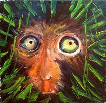 Bedrohter Lebensraum. Affe im Regenwald by Christian Seebauer