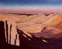 Stille in der Wüste Negev Ölgemälde, Israel von Christian Seebauer