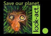 Save our planet. Look and act. Rainforest Motiv by Christian Seebauer