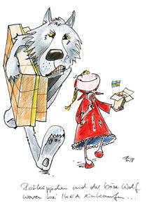 Rotkäppchen und der böse Wolf by Antje Püpke