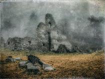 Festungsruine Hohentwiel im Nebel V von Christine Horn