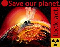 Fukushima Kernschmelze - Meltdown Ölgemälde  von Christian Seebauer