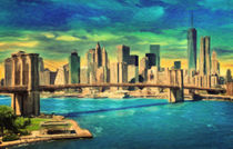 New York City Skyline von olaartprints