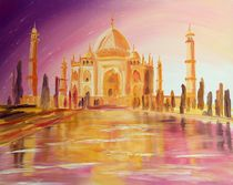 Mystic Taj Mahal Ölgemälde  by Christian Seebauer