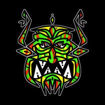 Tribal Demon Mask by Vincent J. Newman