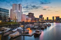 Dusseldorf harbour skyline von Michael Abid