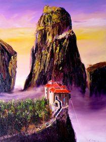Meteora-Kloster in violett  von Christian Seebauer
