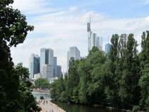 Panorama of Frankfurt skyline, the financial center of the country, Germany by ambasador