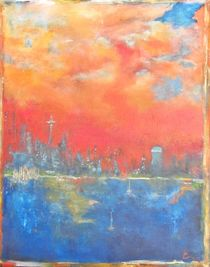Seattle Sunset, Chaline Ouellet by Chaline Ouellet