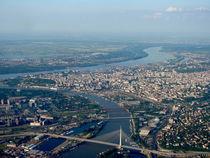 Panorama of Belgrade with river Sava and Danube von ambasador