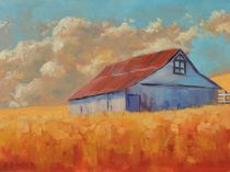 Barn On The Hill by Steven Guy Bilodeau