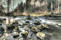 River Bode in Harz mountains. by salogwynfineart