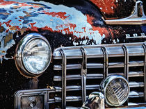 Classic Car with Lots of Chrome by Debra  Carr Brox