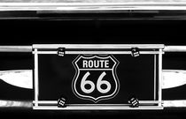 Route 66 License Plate by Jim Corwin