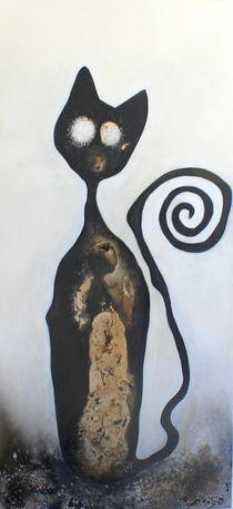 Katze schwarz von Cornelia Hauch