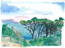 Trauminsel Capri Italien Blick auf Meer und Felsen von M.  Bleichner