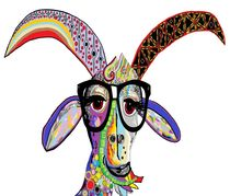 Hipster Goat by eloiseart