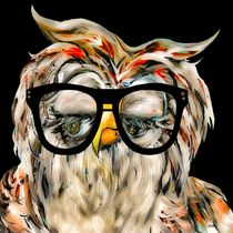 Hipster Owl by eloiseart
