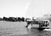 Alsterdampfer mit Wasserfontäne. von fischbeck