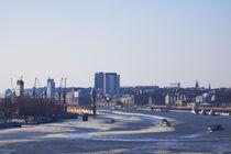 Hamburger Hafen im Winter. von fischbeck