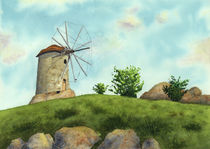 Windmill by olaartprints