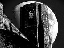 Moon Behind The Tower by David Bishop
