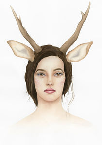Lady Deer by olaartprints