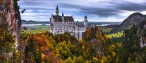 Schloss Neuschwanstein im Herbst (Panorama) von Klaus Tetzner