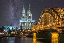 Milchstraße über Kölner Dom by Klaus Tetzner