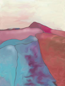 New Earth Abstract digital painted fantasy landscape von Christina Rahm