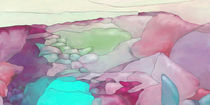 New Earth Abstract digital painted fantasy landscape by Christina Rahm