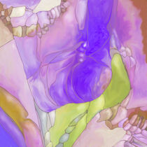 New Earth Abstract digital painted fantasy flower von Christina Rahm