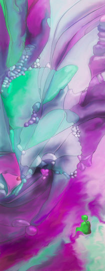 New Earth Abstract digital painted fantasy flower by Christina Rahm